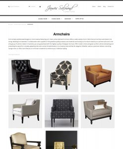 James Salmond E-Commerce site - Product category