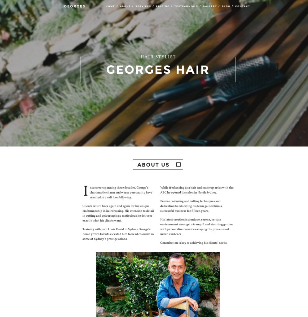 George's Hair - Sydney based stylist