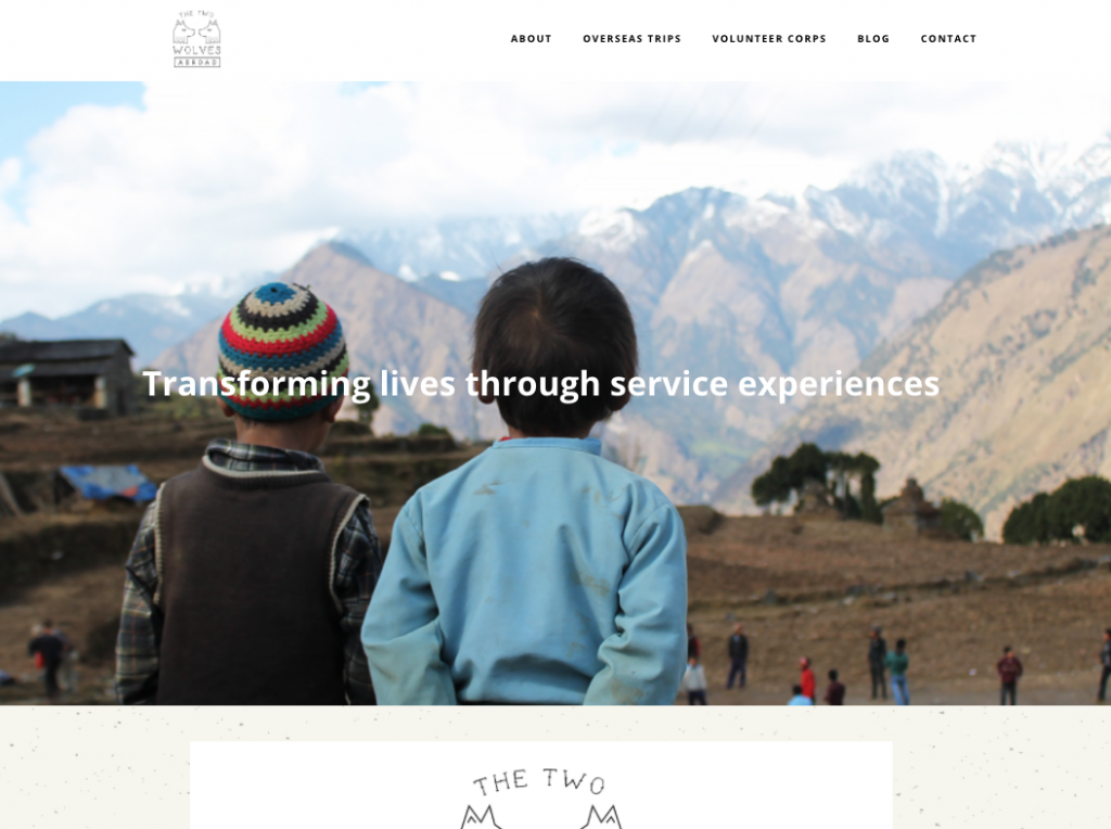 The Two Wolves Abroad - Social Enterprise Travel site
